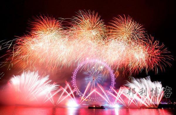 伦敦眼新年烟花