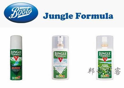 英国BOOTS驱蚊产品Jungle Formula