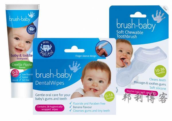 英国的婴儿刷牙湿巾
