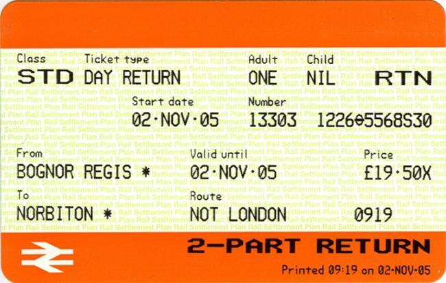 英国火车票