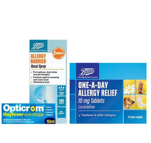 Boots one-a-day allergy relief 10mg tablets
