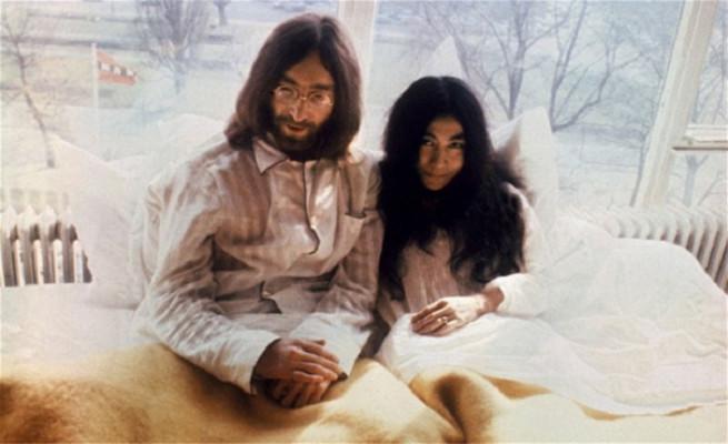 列侬和洋子照片
