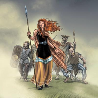 the story of the roman warrior queen boudicca Queen boudica and her army gave the romans a major challenge in ad 60, boudica led an uprising against the romans boudica was the queen of the iceni tribe who lived in what is now east anglia.