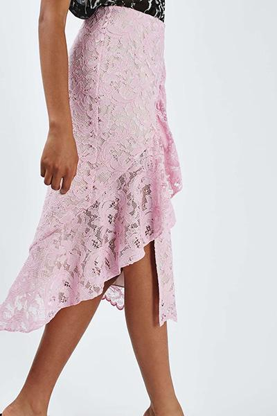 Lace Ruffle Skirt by Boutique