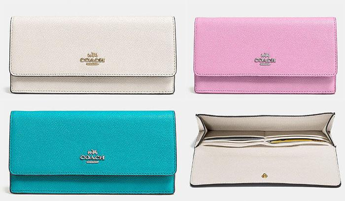 Coach Soft Wallet in Embossed Textured Leather