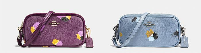 Coach Crossbody Clutch in Floral Print Coated Canvas