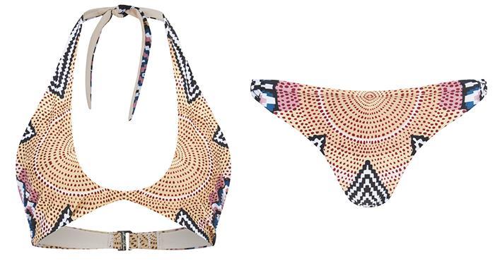 Mara Hoffman Women's Slit Front Halter Bikini Top