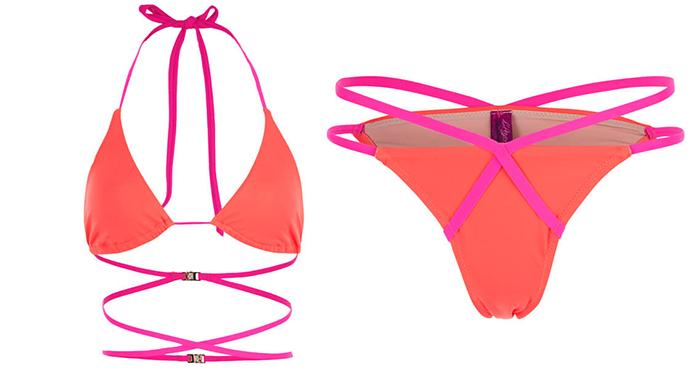 1. L'agent By Agent Provocateur Women's Eleena Bikini Top-neon Melon