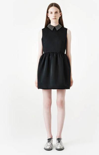 McQ Alexander McQueen Women's Studded Collar Party Dress