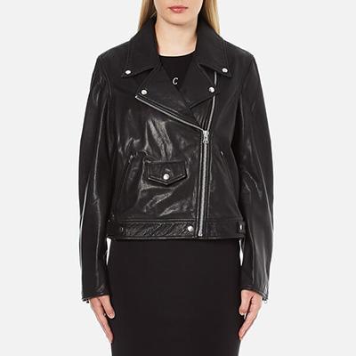 McQ Alexander McQueen Women's Casual Leather Bike Jacket