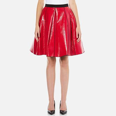 Marc Jacobs Women's Pleather Skirt With Elastic Waist