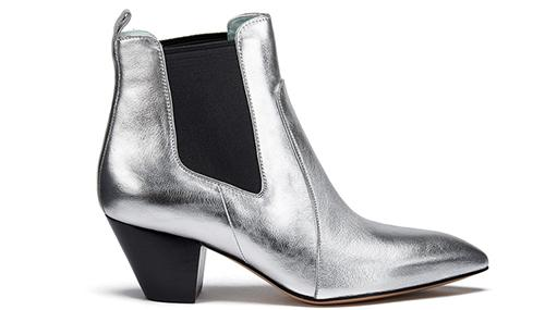 Marc Jacobs Women's Kim Metallic Leather Heeled Chelsea Boots