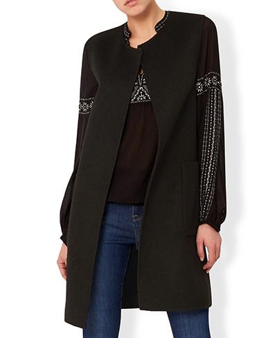 Florence Double Face Sleeveless Coat