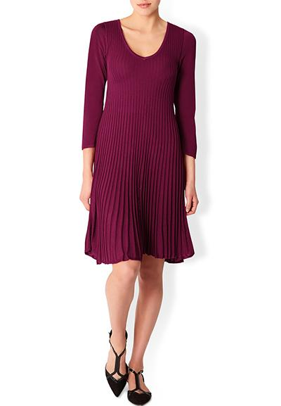 Paula Pleated Short Dress