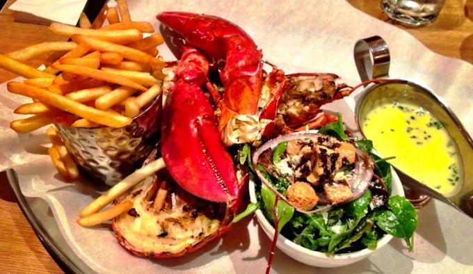 伦敦旅游之龙虾汉堡餐厅