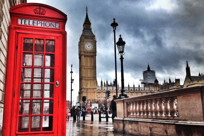 伦敦旅游之红色电话亭