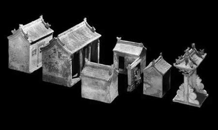 陶器民居模型陪葬品 明朝