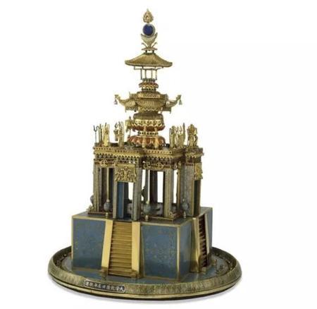 景泰蓝佛教曼荼罗或坛场 清朝 AD 1772