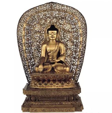 釋迦牟尼鍍金青銅像 明朝,永樂年間