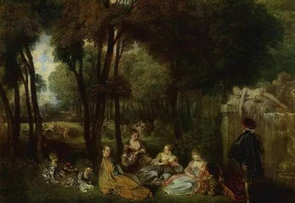 Antoine Watteau, Les Champs Elysées, 1720-1721