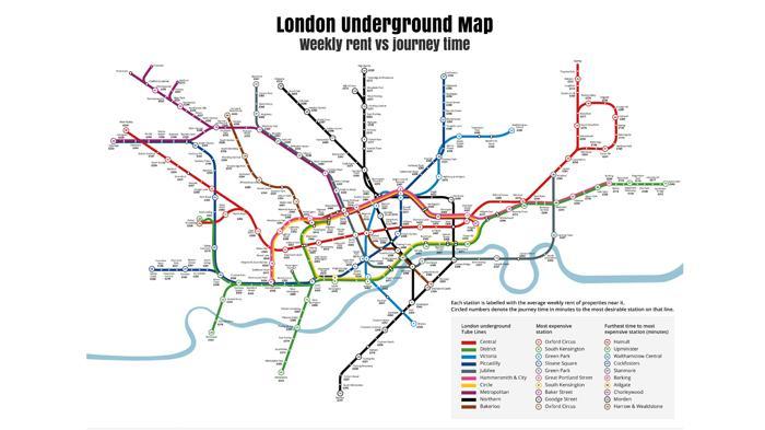 伦敦租房地图