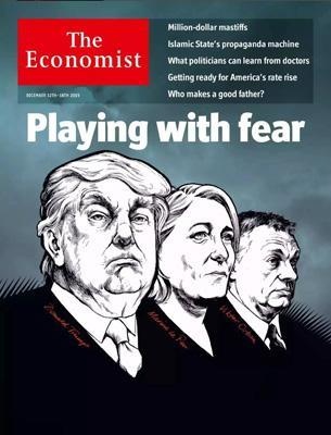 经济学人杂志封面《 操弄恐惧》
