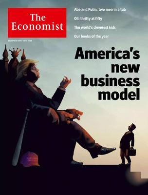 经济学人杂志封面《美国的新运营模式》