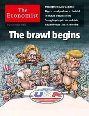 经济学人杂志封面《开战》