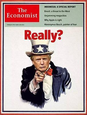 经济学人杂志封面《Really? 来真的?》