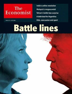 经济学人杂志封面《Battle Lines , 最终战线》