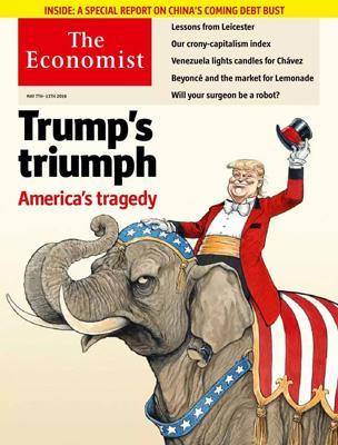 经济学人杂志封面《川普若胜利,则是美国的悲剧》