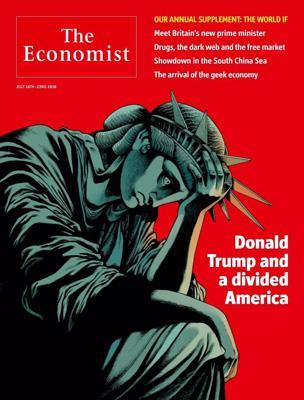 经济学人杂志封面《川普和一个分裂的美国》