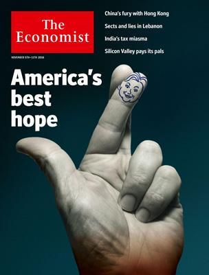 经济学人杂志封面《Americas Best Hope , 祝美国好运》