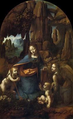 达·芬奇的《岩间圣母》(1490年代至1507年)