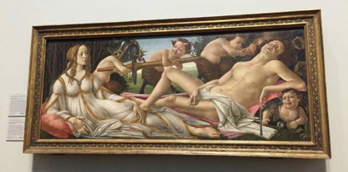 桑德罗·波提切利的《维纳斯与战神》(约1485年)