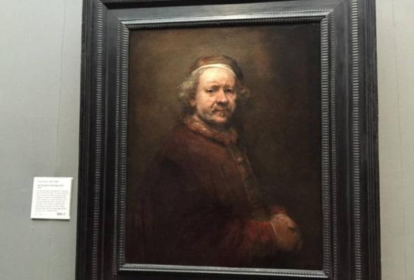 伦勃朗的《63岁自画像》(1669年)
