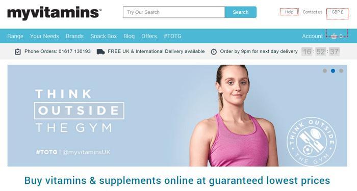 My Vitamins保健品网站