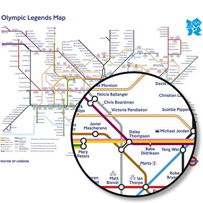 Olympic Legends Map
