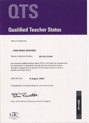 UK Qualified Teacher Status