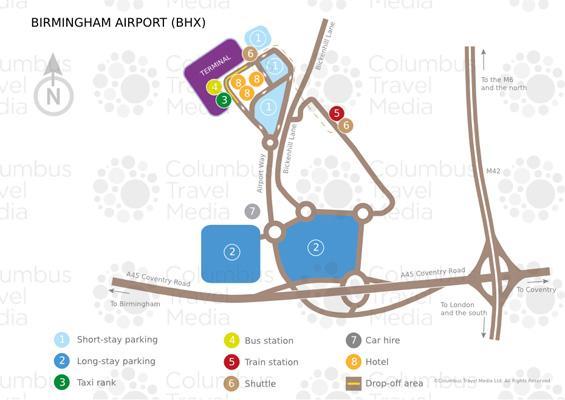 伯明翰机场航站楼分布