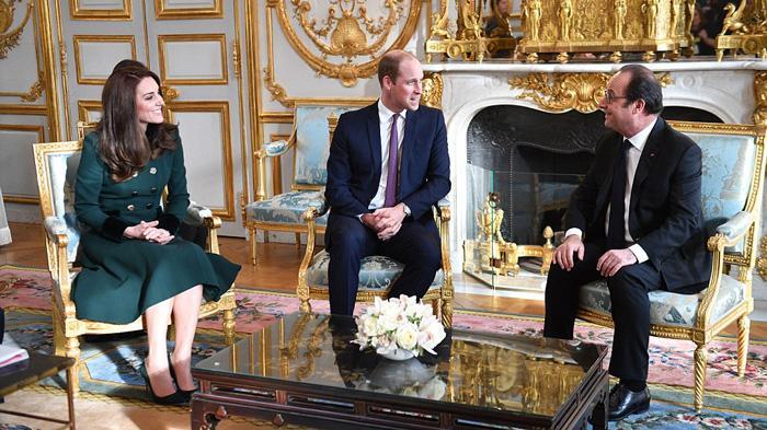 凯特王妃访问法国服装