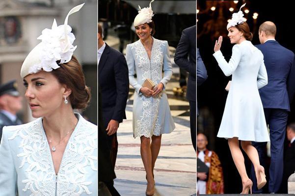 女王90大寿时的浅蓝色外套