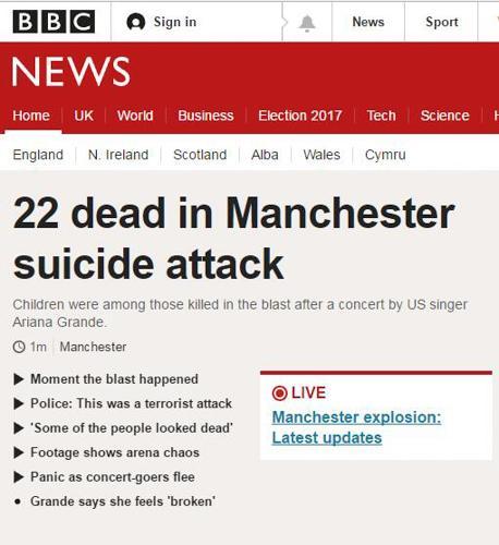 5.22英国曼彻斯特恐怖袭击