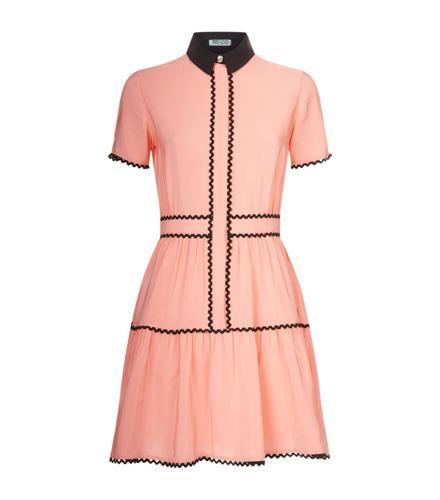 Kenzo Contrast Scallop Hem Dress(高田贤三对比色扇贝边连衣裙)