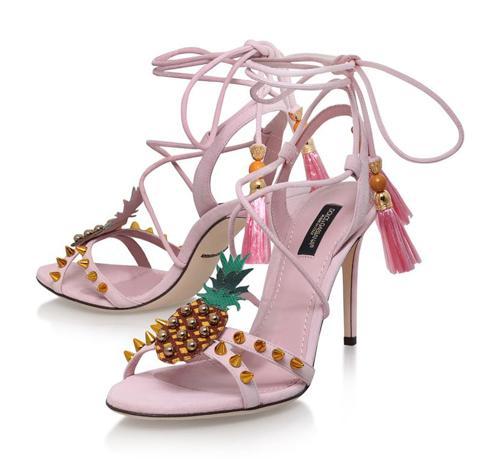 Dolce & Gabbana Ananas Sandals 105(杜嘉班纳菠萝10.5厘米高跟凉鞋)