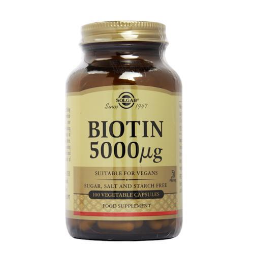 Solgar Biotin 5000µg 100 Vegi Capsules(生物素)