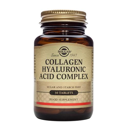 Solgar Collagen Hyaluronic Acid Complex 30 Tablets(透明质酸)