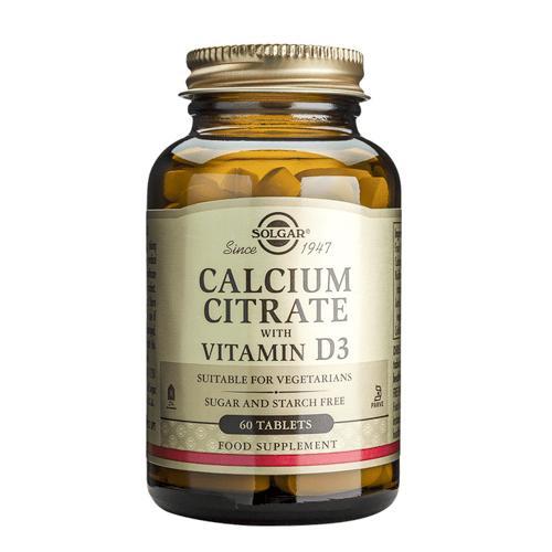 Solgar Calcium Citrate with Vitamin D3(柠檬酸钙)