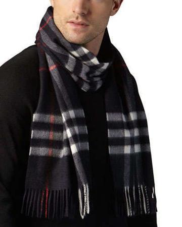 巴宝莉男士羊绒围巾