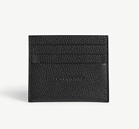 Longchamp Foulonne Grained Leather Card Holder(珑骧粒面皮革卡包)